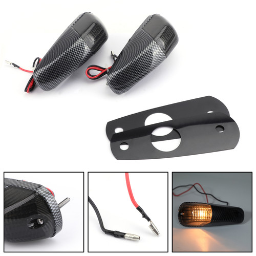 Front Turn Signals For Kawasaki ZZR1400 ZX14R 2006-2009, Smoke