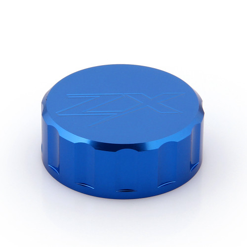 CNC Brake Fluid Reservoir Cap Kawasaki ZX 9R 14R (All Year) Blue