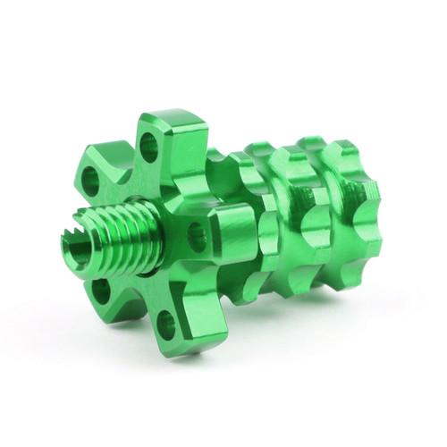 Universal 8mm Anodized Billet Aluminum Clutch Cable Adjuster Set, Green