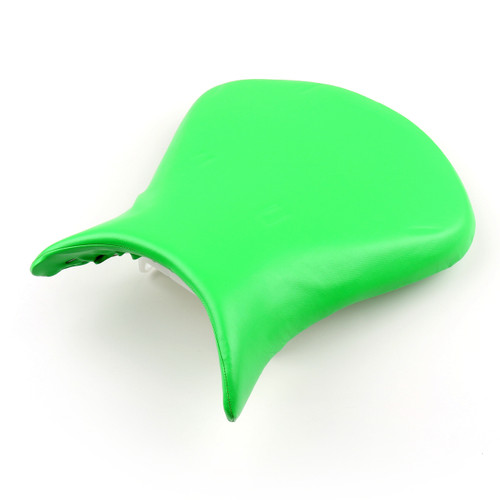 Front Rider Seat Leather Cover Kawasaki ZX6R ZX636 (2007-2008) Green