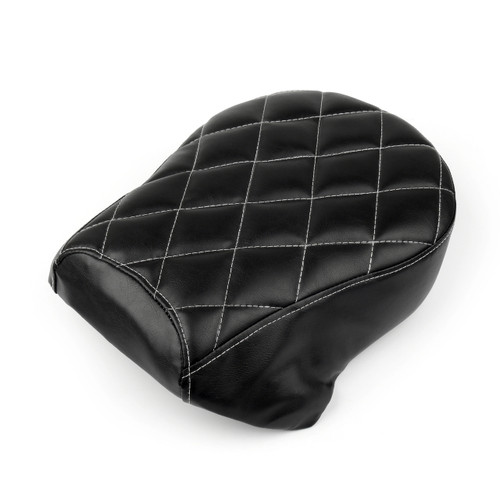 Rear Leather Diamond SOLO Rear Passenger Harley Sportster Iron XL883N, Black
