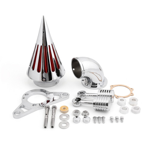 Spike Air Cleaner Intake Filter Kit  Harley Davidson EFI Twin Cam Softail Dyna Touring Rocker Crossbones