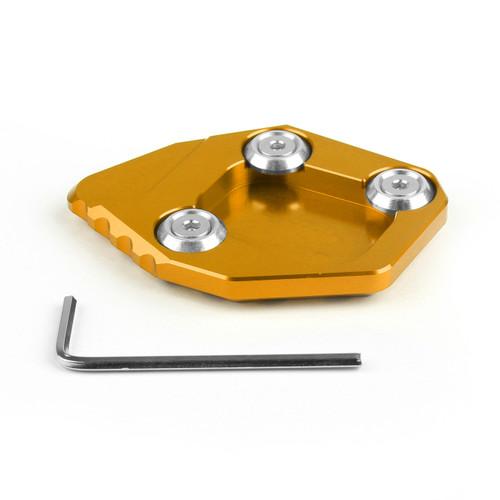 CNC Side Kickstand Stand Extension Plate Pad Honda CBR600RR F5 2007-2015 Gold