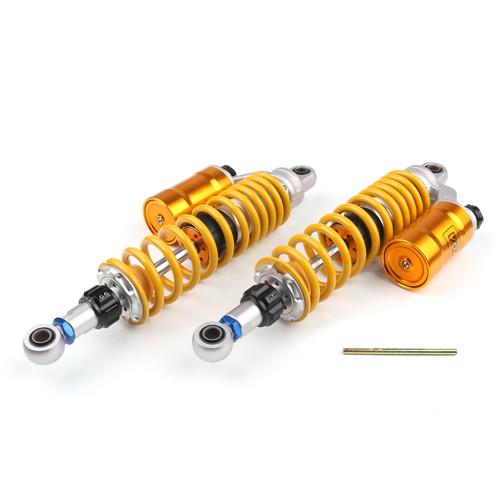 """360mm 14"""" Adjustable Rear Shock Absorbers Honda CB750 CB1000 CB1100 CB1300 Pair Gold"""
