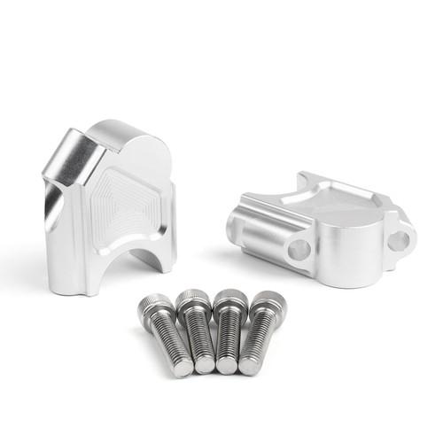 Handlebar Riser Kit Moves Bar Up 40mm BMW F800GS (2008-2017), Silver