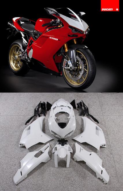 Fairings Ducati 1098 1198 848 Red White Center 1098 Racing (2007-2011)