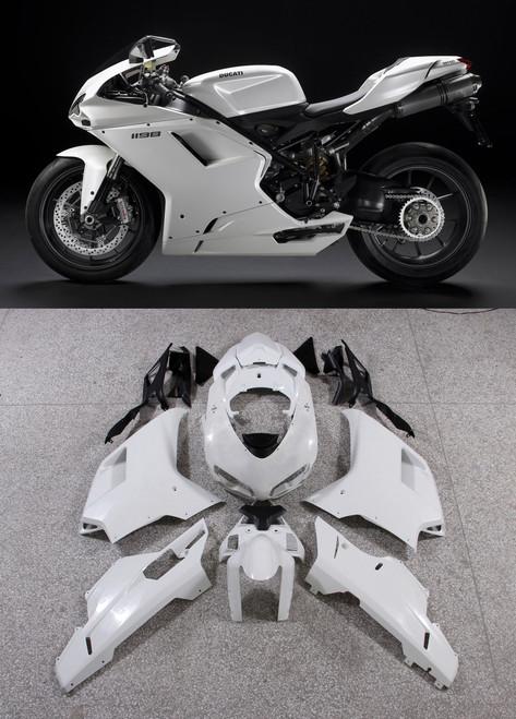Fairings Ducati 1098 1198 848 White 1198 Racing (2007-2011)