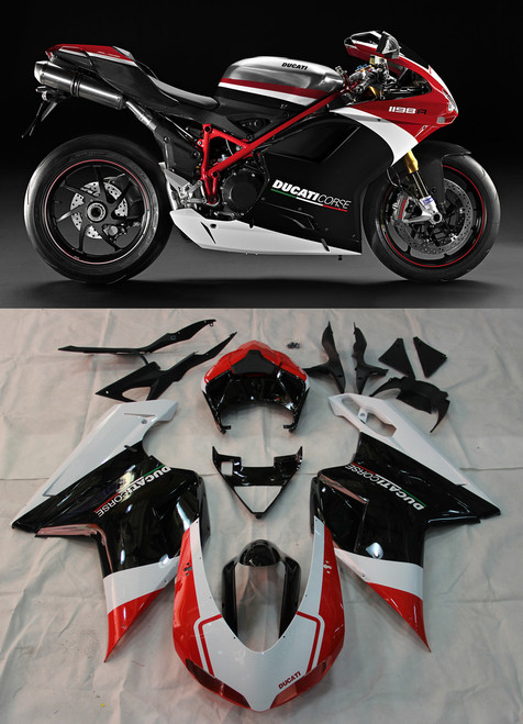 Fairings For Ducati 1098 1198 848 Red Black (2007-2011)