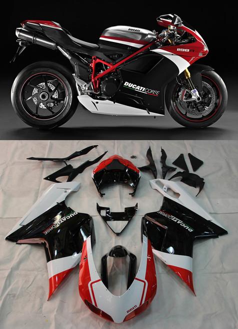Fairings For Ducati 1098 1198 848 Red Black (2007-2011)
