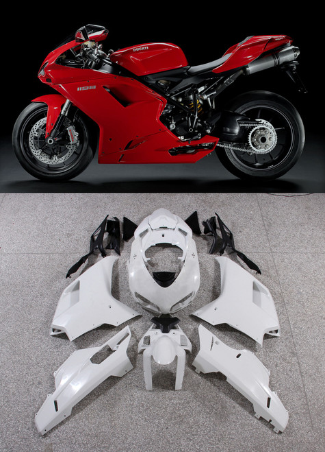 Fairings Ducati 1098 1198 848 Red 1198 Racing (2007-2011)