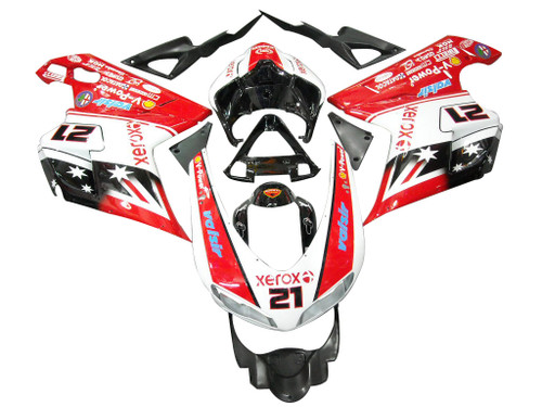 Fairings Ducati 1098 1198 848 Red & White Xerox No.21 Racing (2007-2011)