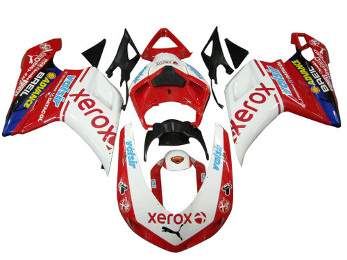 Fairings Ducati  1098 1198 848 White & Red Xerox Racing (2007-2011)