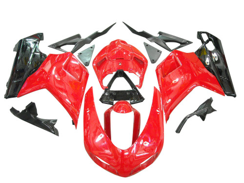 Fairings Ducati 1098 1198 848 Red & Black Racing (2007-2011)
