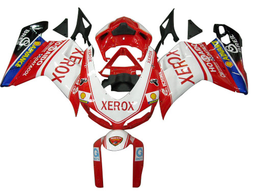 Fairings Ducati 1098 1198 848 Red & White Xerox Racing (2007-2011)