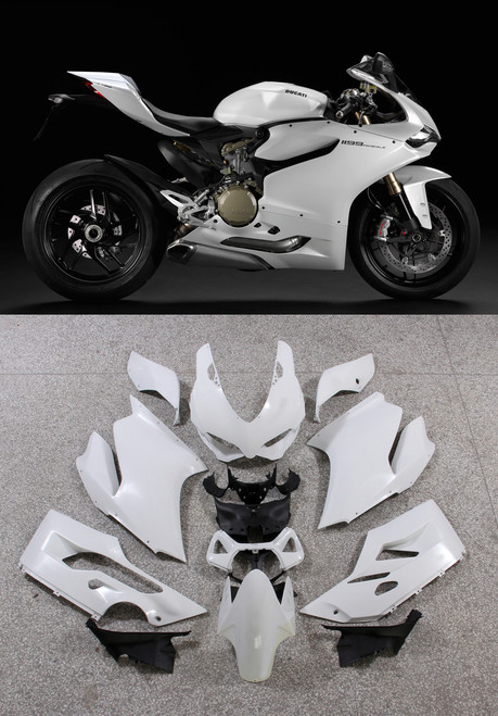 Fairings Ducati 1199 Panigale  White 1199 Racing (2012-2015)