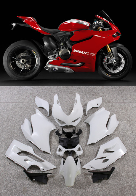 Fairings Ducati 1199 Panigale Red Corse 1199 Racing (2012-2015)