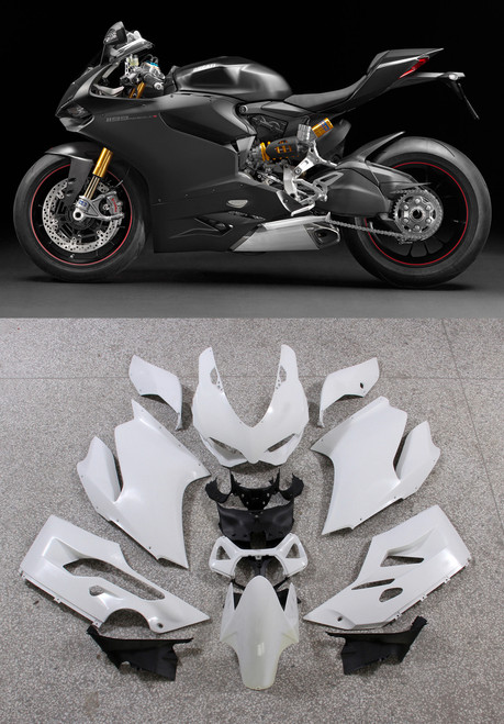 Fairings Ducati 1199 Panigale Black Matte 1199 Racing (2012-2015)