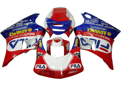Fairings Ducati 996 Red White Blue Fila Racing (1994-2002)