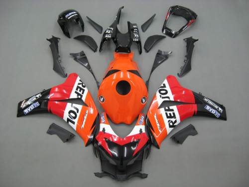 Fairings Honda CBR 1000 RR Black Orange Repsol Racing (2008-2011)