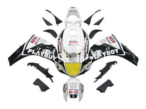 Fairings Honda CBR 1000 RR Black White Playboy Racing (2008-2011)