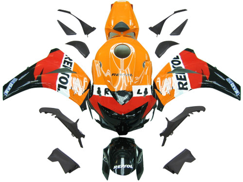 Fairings Honda CBR 1000 RR Black & Orange Repsol Racing (2008-2011)