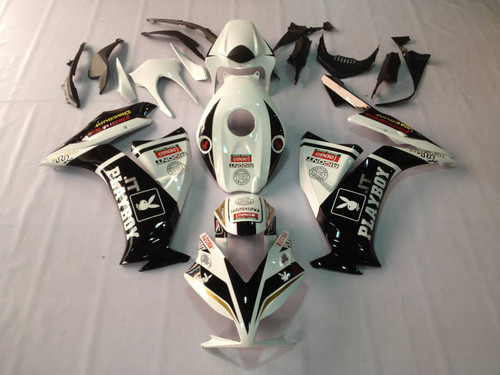 Fairings Honda CBR1000RR Playboy White Black Racing (2012-2013-2014-2015-2016)