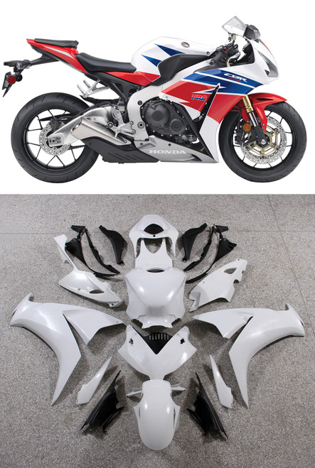 Fairings Honda CBR1000RR HRC White Silver Racing (2012-2013-2014-2015-2016)