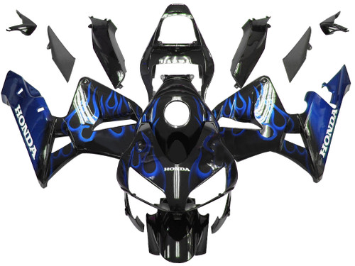 Fairings Honda CBR 600 RR Black & Blue Flame Racing (2003-2004)