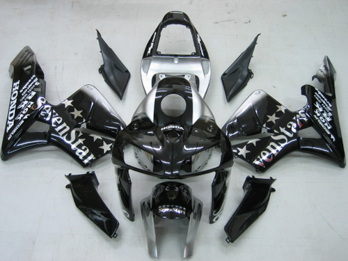 Fairings Honda CBR 600 RR Black & Silver SevenStars Racing (2005-2006)