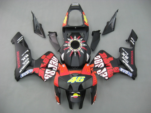 Fairings Honda CBR 600 RR Black Matte  Valentino Rossi Racing (2005-2006)