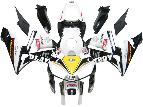 Fairings Honda CBR 600 RR Black & White Playboy Racing (2005-2006)