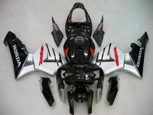 Fairings Honda CBR 600 RR Black & Silver CBR Racing (2005-2006)