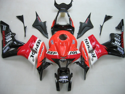 Fairings Honda CBR 600 RR Black & Orange Repsol Racing (2007-2008)