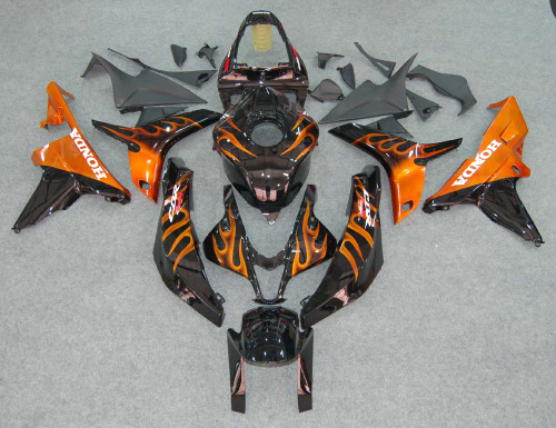 Fairings Honda CBR 600 RR Black & Orange Flame Racing (2007-2008)