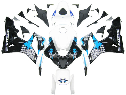 Fairings Honda CBR 600 RR Black White Blue Coin RR Racing (2007-2008)