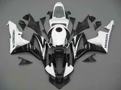Fairings Honda CBR 600 RR Black & White CBR Racing (2007-2008)