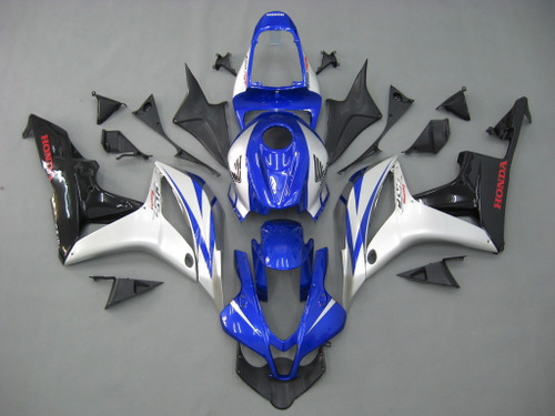Fairings Honda CBR 600 RR Blue Silver Black CBR Racing (2007-2008)
