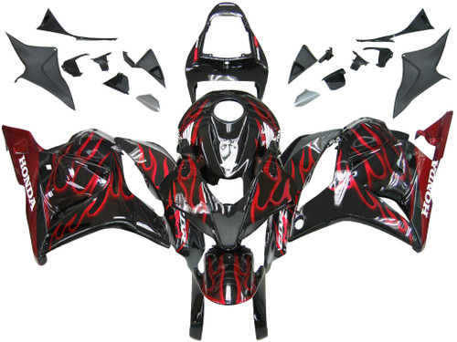 Fairings Honda CBR 600 RR Black & Red Flame Racing (2009-2012)