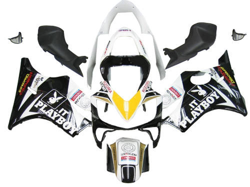 Fairings Honda CBR 600 F4i Black & White Playboy Racing (2001-2003)
