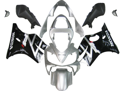 Fairings Honda CBR 600 F4i Silver & Black F4i Racing (2001-2003)