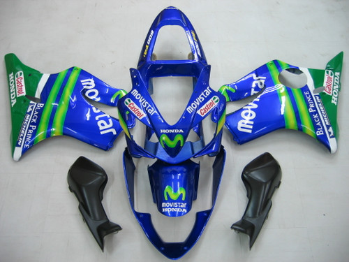 Fairings Honda CBR 600 F4i Blue & Green Movistar Racing (2001-2003)