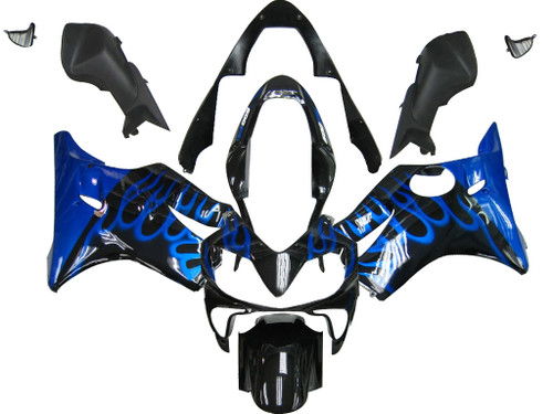 Fairings Honda CBR 600 F4i Black & Blue Flame Racing (2004-2007)