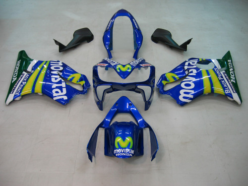 Fairings Honda CBR 600 F4i  Blue & Green Movistar Racing (2004-2007)
