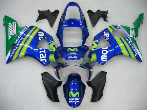 Fairings Honda CBR 954 RR Blue & Green Movistar Racing (2002-2003)