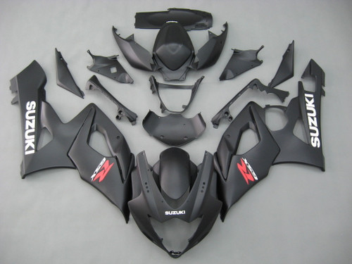 Fairings Suzuki GSXR 1000 Black Matte GSXR Racing  (2005-2006)