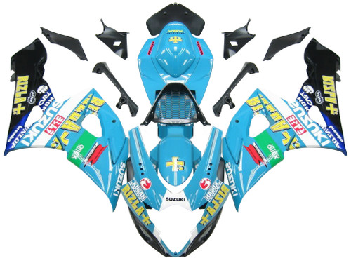 Fairings Suzuki GSXR 1000 Blue Black Rizla Racing (2005-2006)