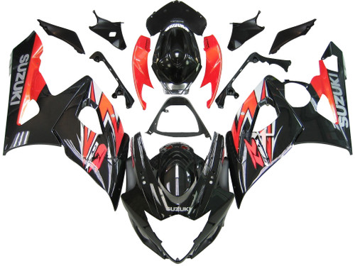 Fairings Suzuki GSXR 1000 Black & Red GSXR Racing  (2005-2006)