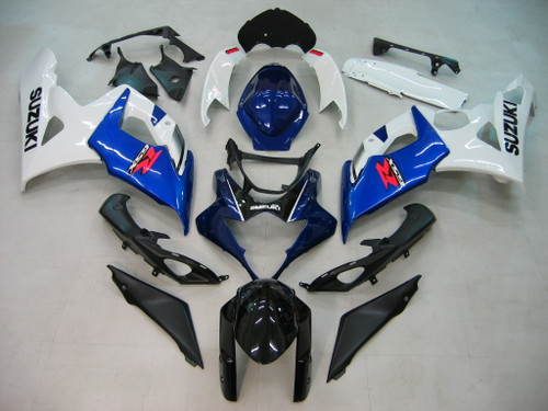 Fairings Suzuki GSXR 1000 White & Blue GSXR Racing  (2005-2006)