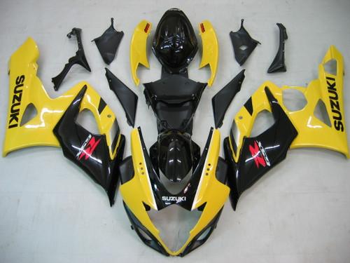 Fairings Suzuki GSXR 1000 Yellow & Black Racing  (2005-2006)