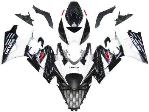 Fairings Suzuki GSXR 1000 Black & White GSXR Racing  (2007-2008)